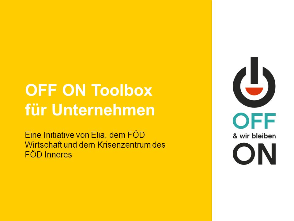 OFF ON Toolbox für Unternehmen
