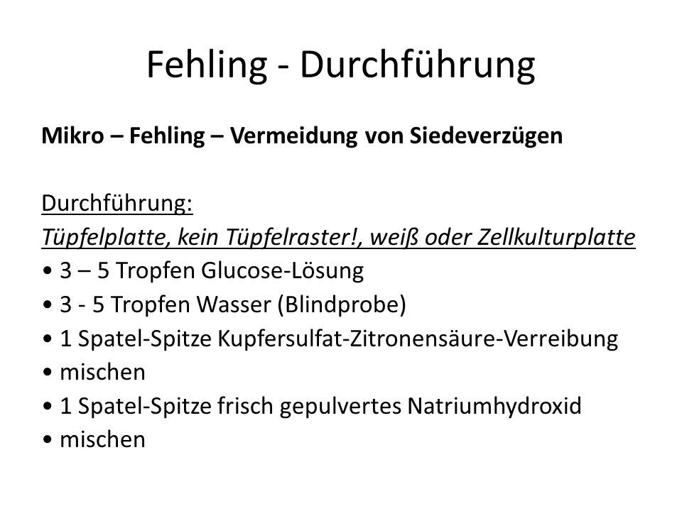 Fehling - Durchführung