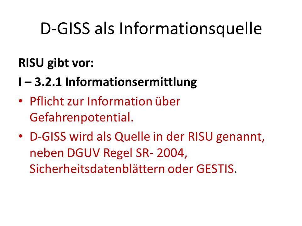 D-GISS als Informationsquelle