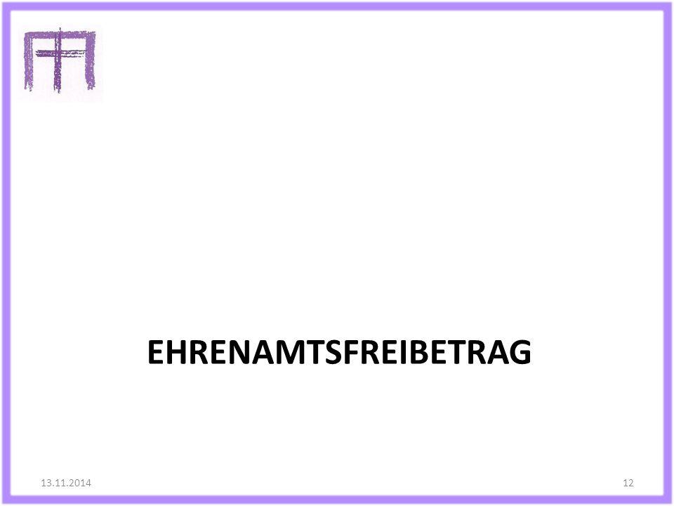 Ehrenamtsfreibetrag 13.11.2014