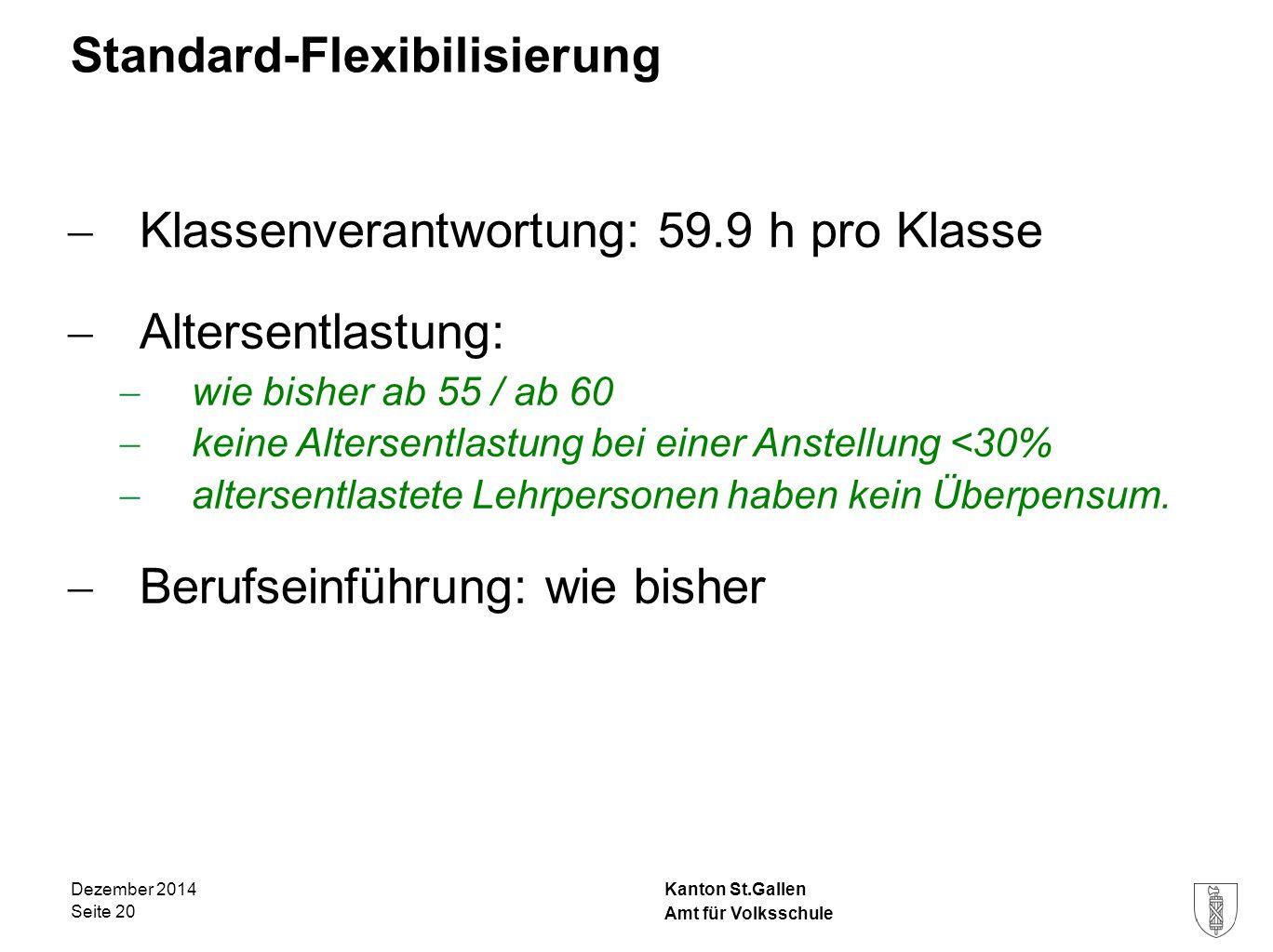 Standard-Flexibilisierung