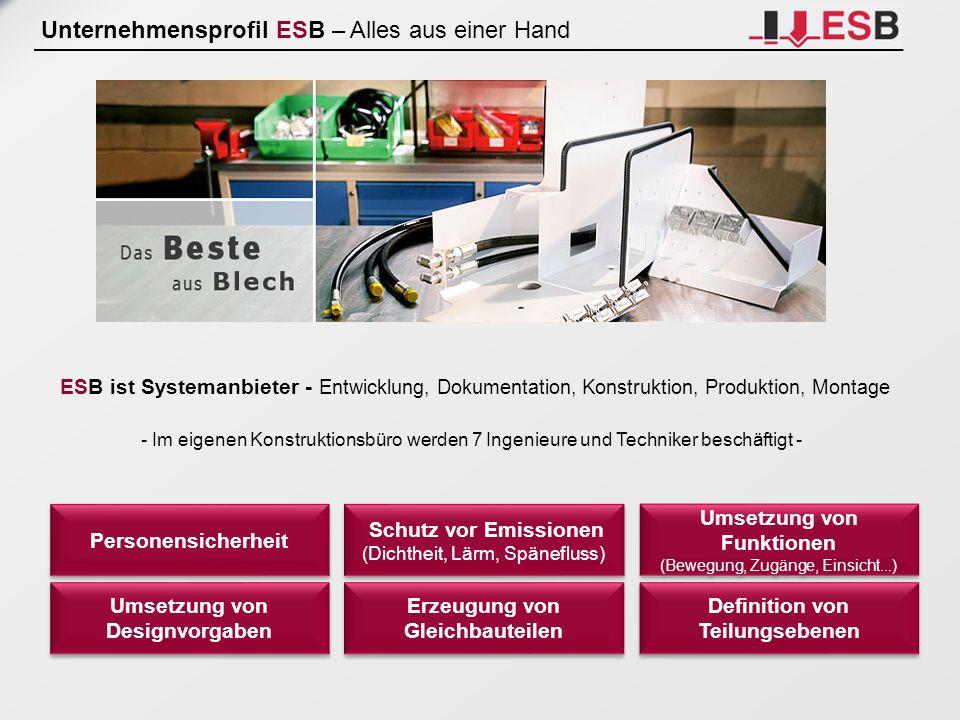 Unternehmensprofil ESB – Alles aus einer Hand
