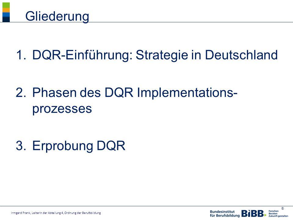 DQR-Einführung: Strategie in Deutschland
