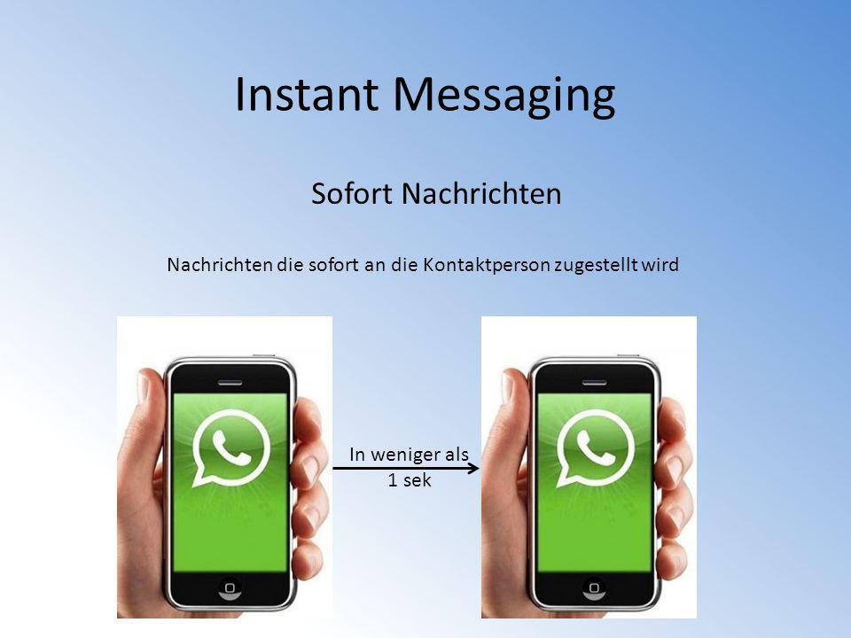 Instant Messaging Sofort Nachrichten
