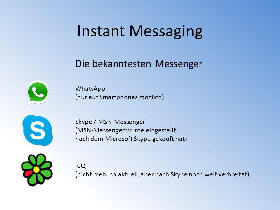 Instant Messaging Die bekanntesten Messenger WhatsApp