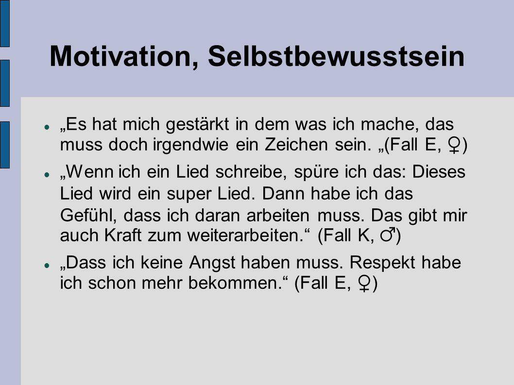 Motivation, Selbstbewusstsein