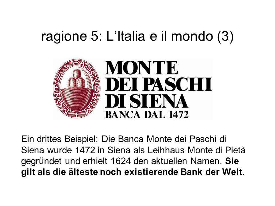 ragione 5: L'Italia e il mondo (3)