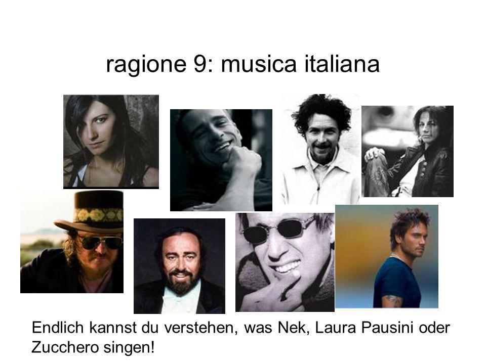 ragione 9: musica italiana