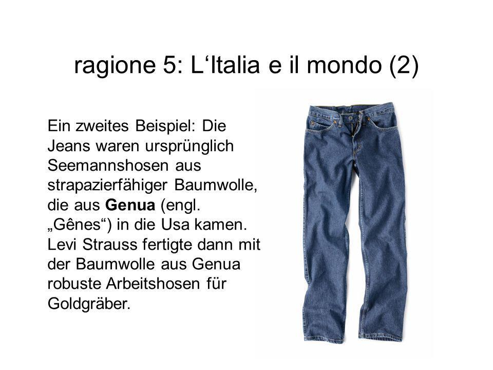 ragione 5: L'Italia e il mondo (2)