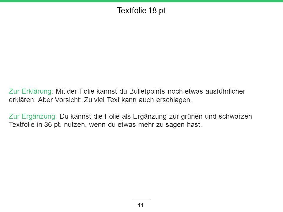 Textfolie 18 pt