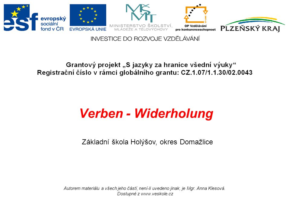 Dostupné z www.veskole.cz