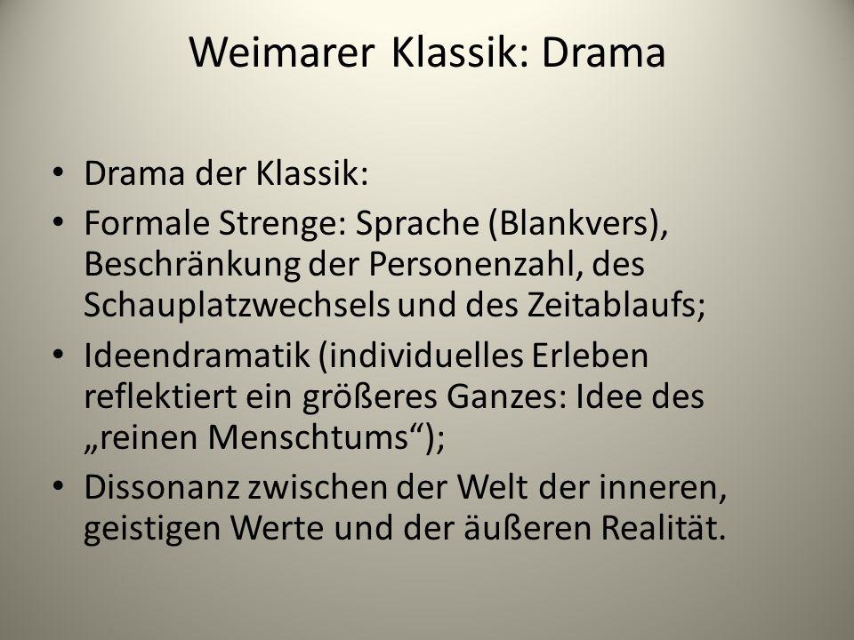 Weimarer Klassik: Drama
