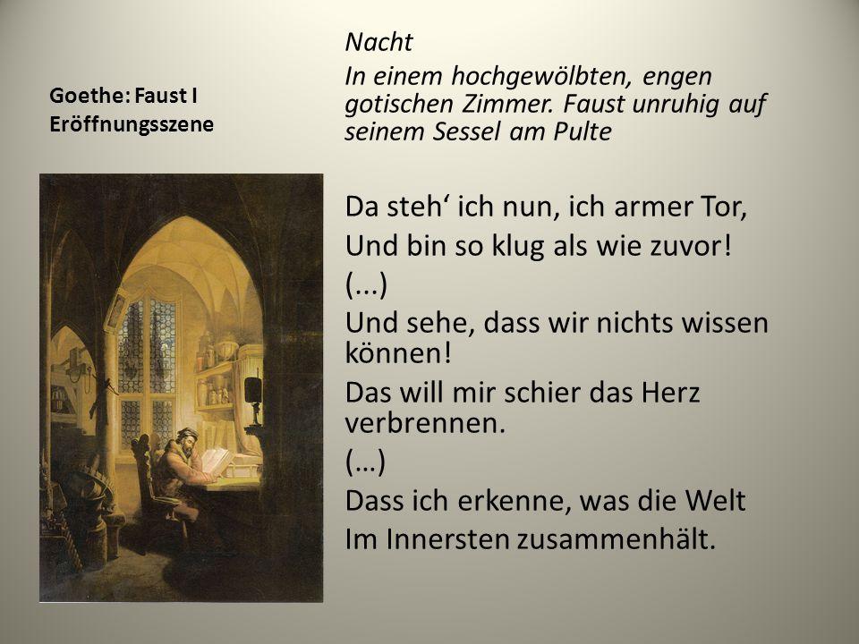 Goethe: Faust I Eröffnungsszene