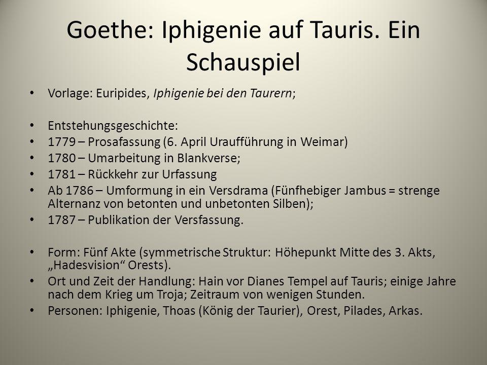 Goethe: Iphigenie auf Tauris. Ein Schauspiel