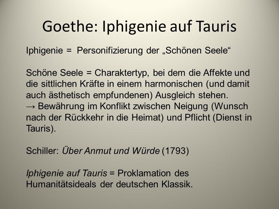 Goethe: Iphigenie auf Tauris