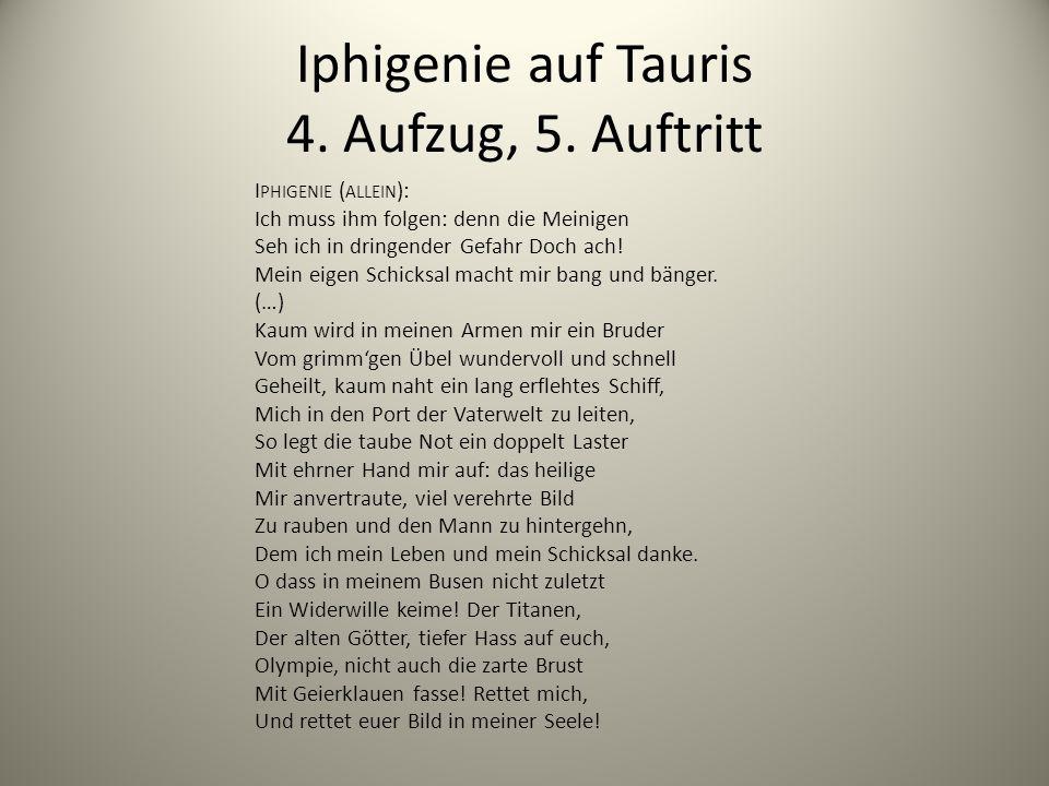 Iphigenie auf Tauris 4. Aufzug, 5. Auftritt