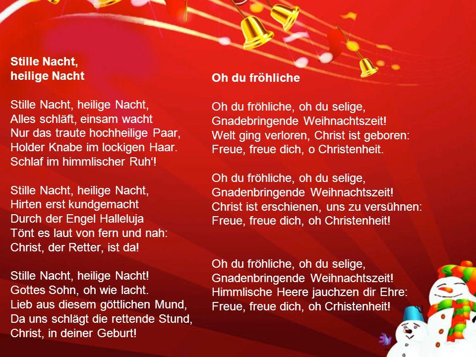 Weihnachtsliedersingen