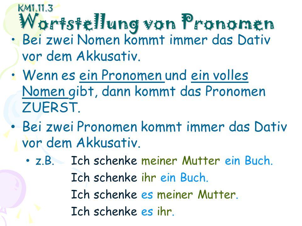 KM1.11.3 Wortstellung von Pronomen