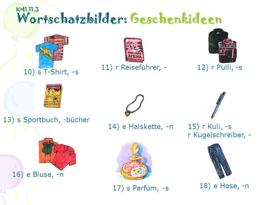 KM1.11.3 Wortschatzbilder: Geschenkideen