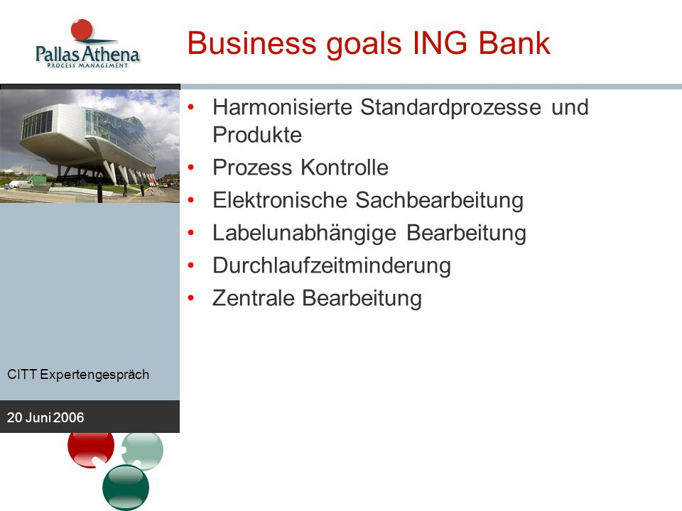 Business goals ING Bank