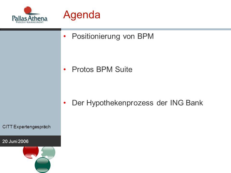 Agenda Positionierung von BPM Protos BPM Suite