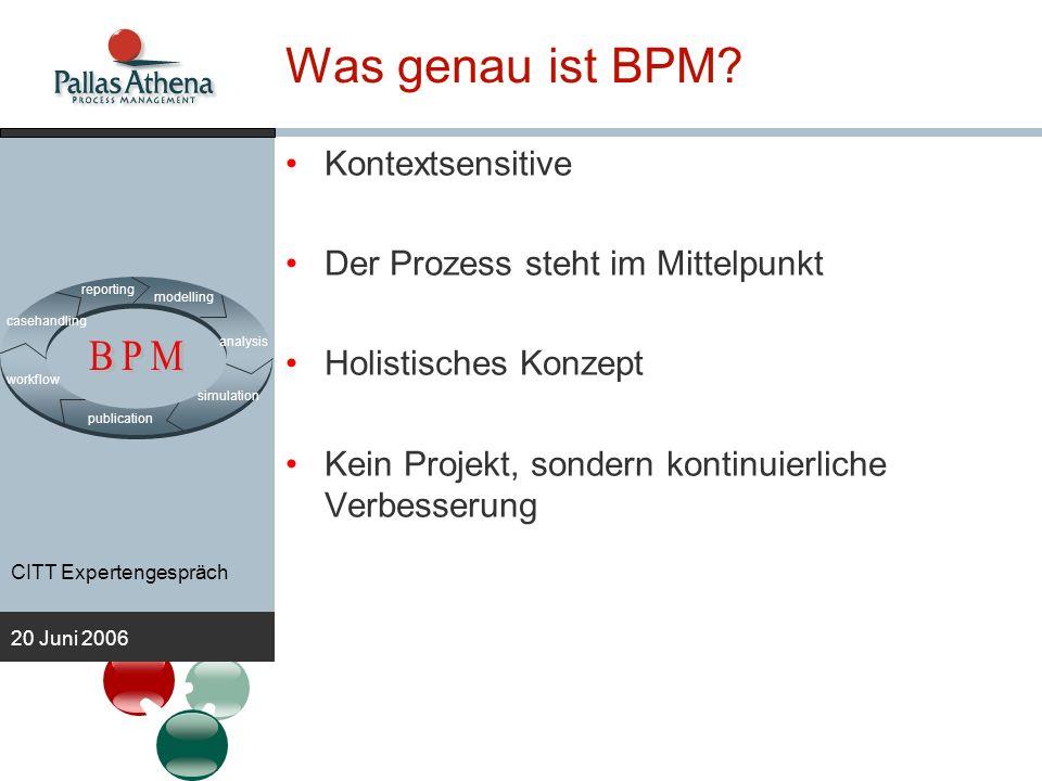 BPM Was genau ist BPM Kontextsensitive
