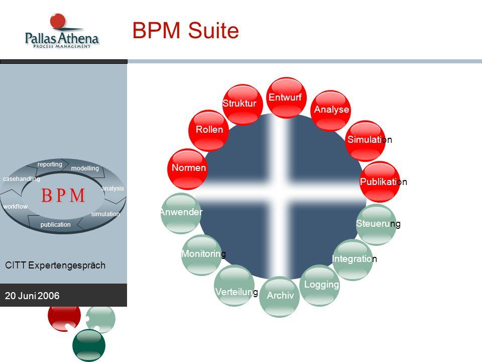 BPM BPM Suite Entwurf Struktur Analyse Rollen Simulation Normen