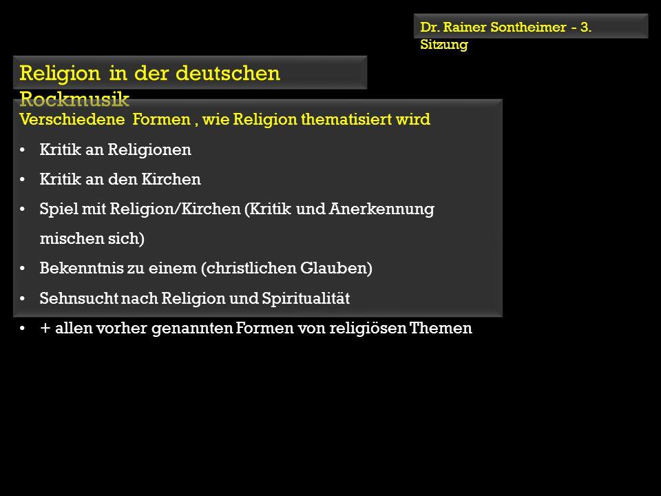 Religion in der deutschen Rockmusik