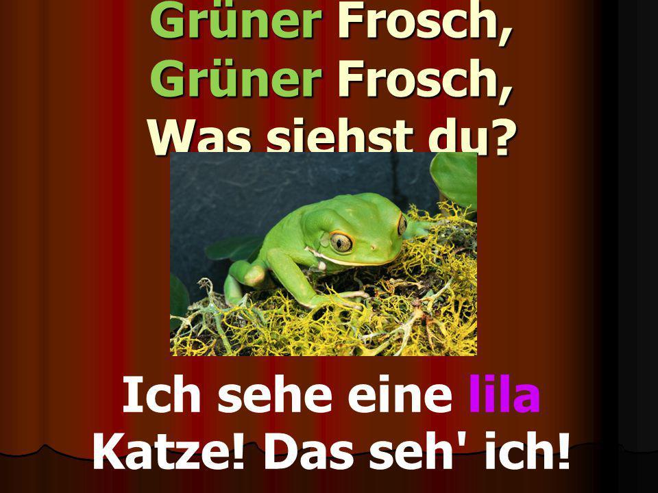 Grüner Frosch, Grüner Frosch, Was siehst du