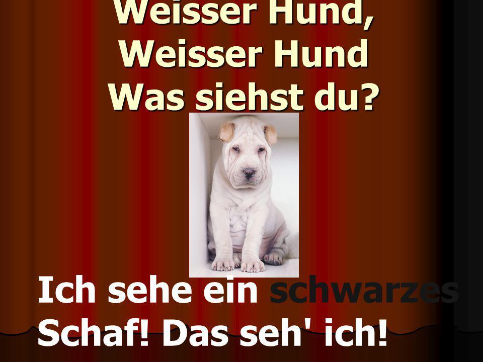 Weisser Hund, Weisser Hund Was siehst du
