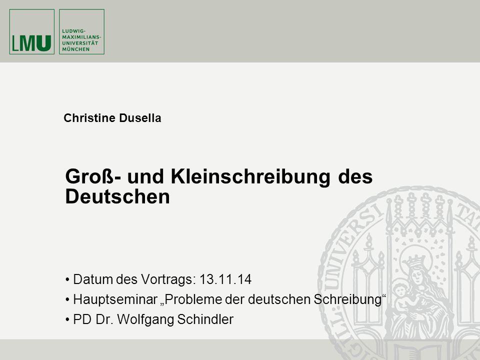 Groß- und Kleinschreibung des Deutschen
