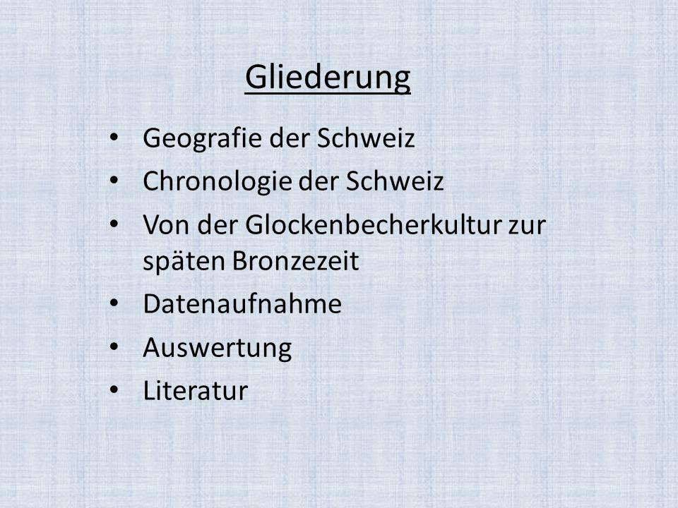 Gliederung Geografie der Schweiz Chronologie der Schweiz