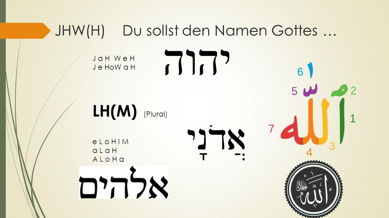 JHW(H) Du sollst den Namen Gottes …
