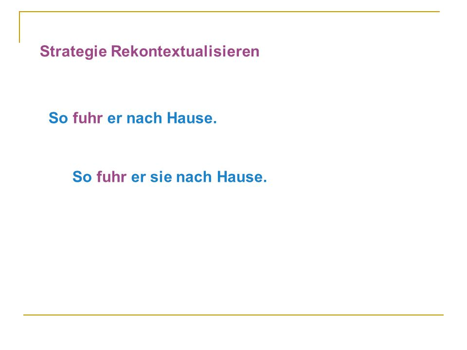 Strategie Rekontextualisieren