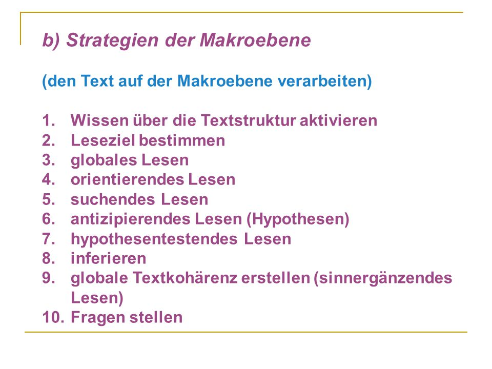 b) Strategien der Makroebene