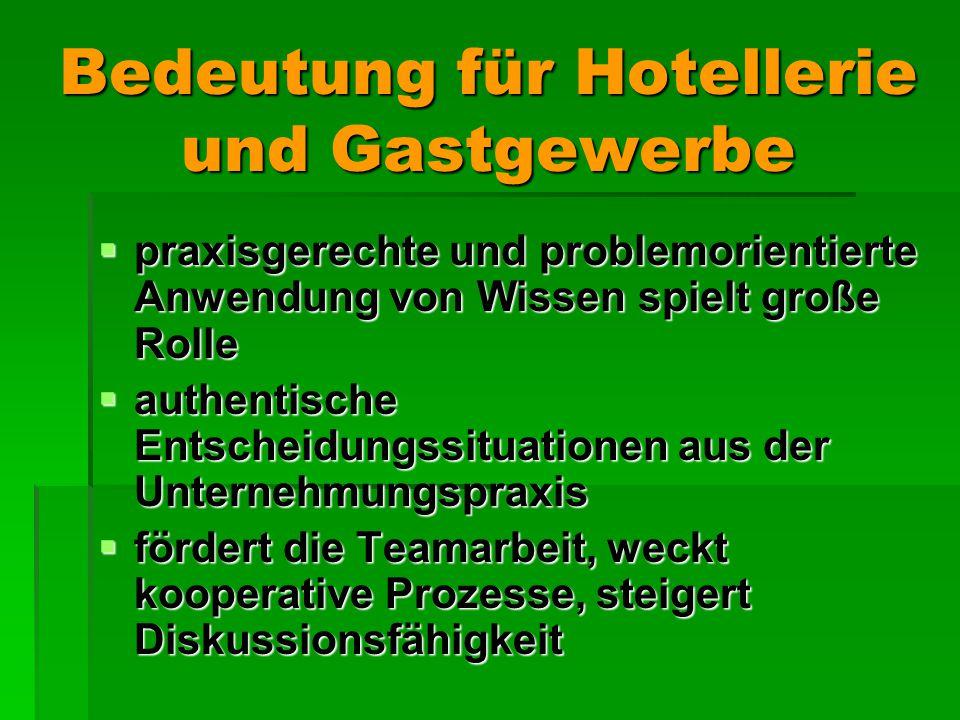 Bedeutung für Hotellerie und Gastgewerbe