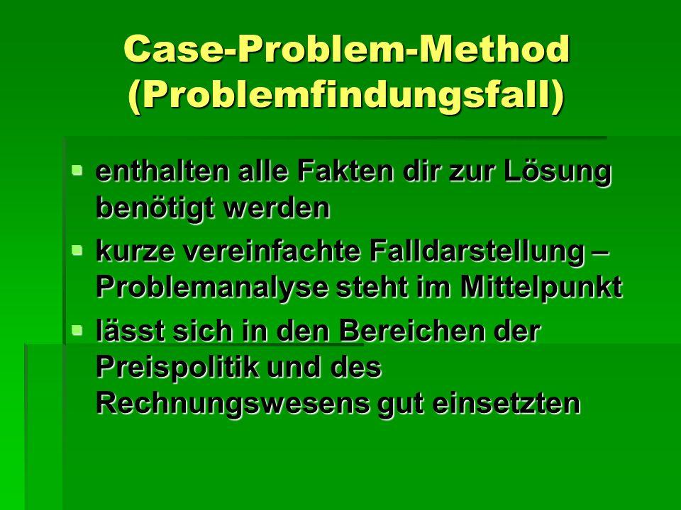 Case-Problem-Method (Problemfindungsfall)