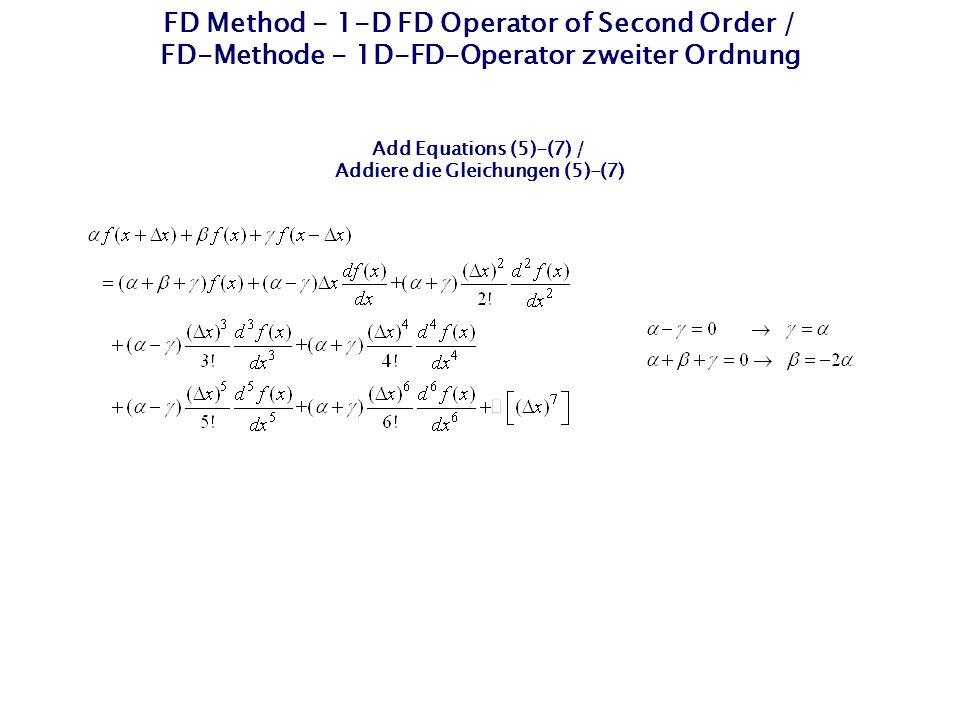 Addiere die Gleichungen (5)-(7)