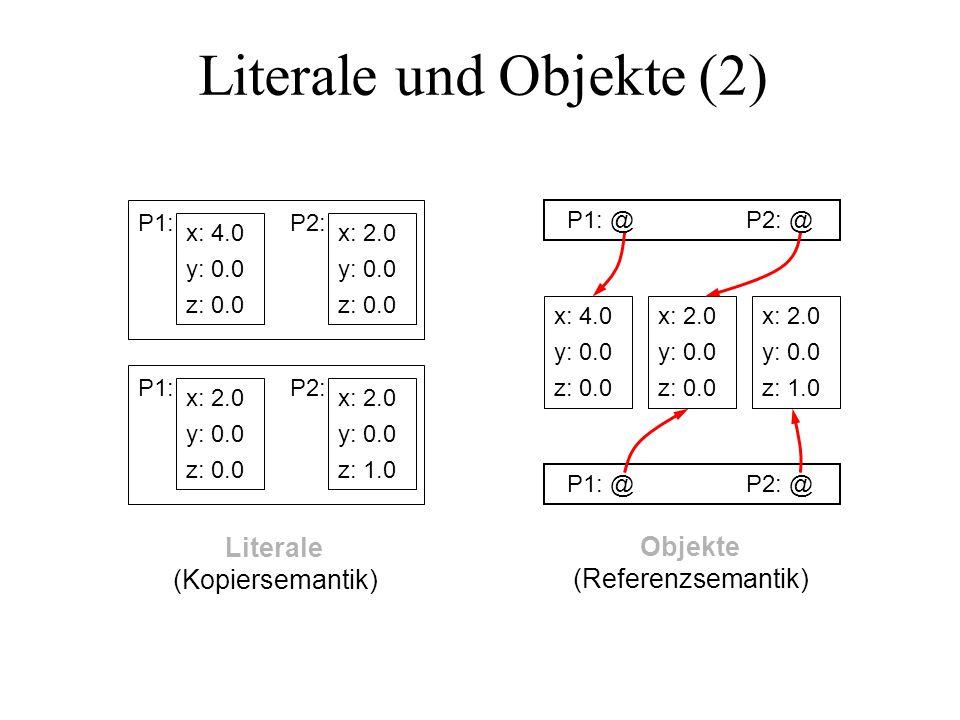 Literale und Objekte (2)