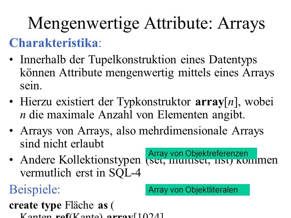 Mengenwertige Attribute: Arrays