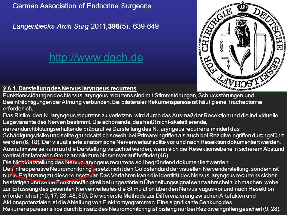 http://www.dgch.de German Association of Endocrine Surgeons
