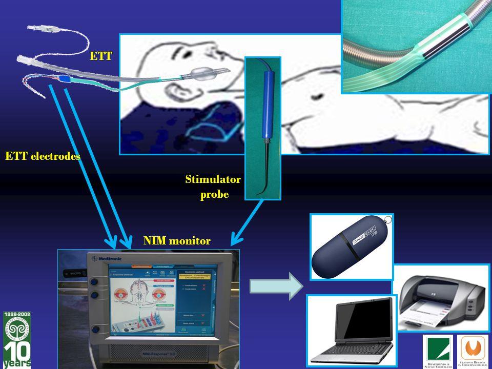 ETT ETT electrodes Stimulator probe NIM monitor