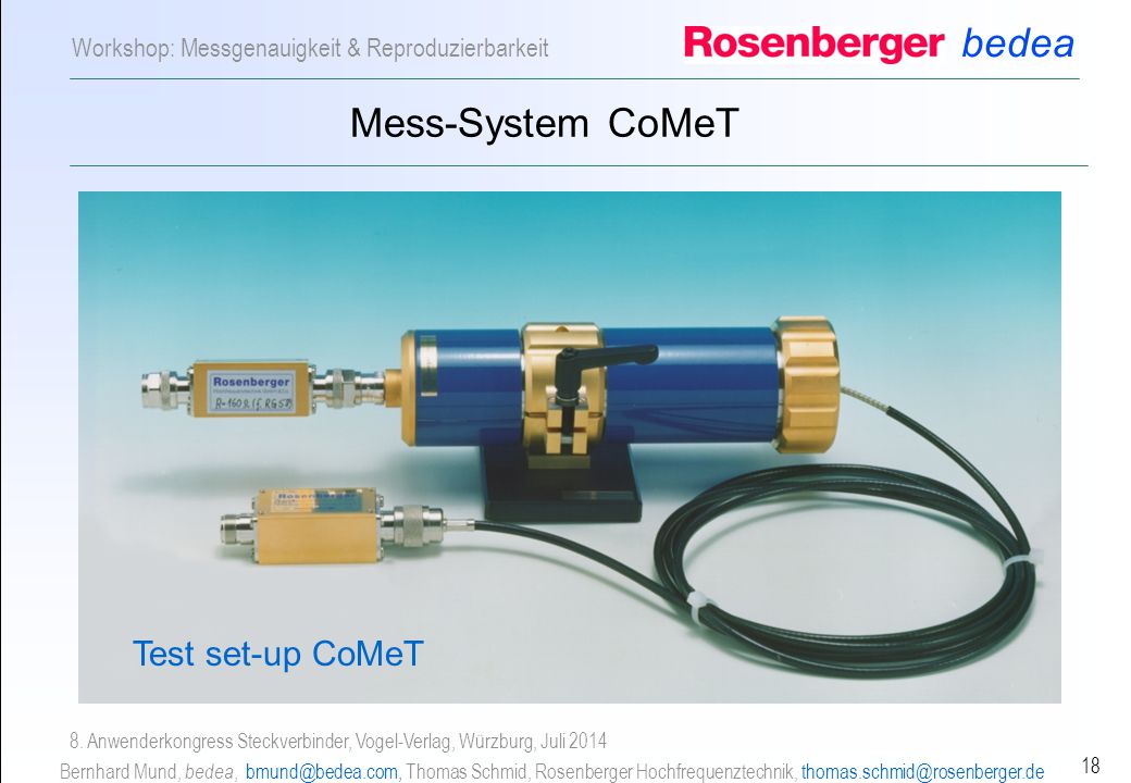 Mess-System CoMeT Test set-up CoMeT