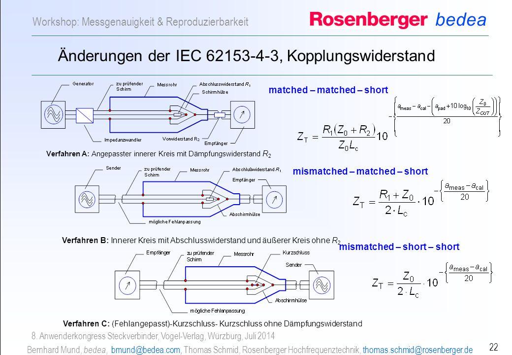 Änderungen der IEC 62153-4-3, Kopplungswiderstand