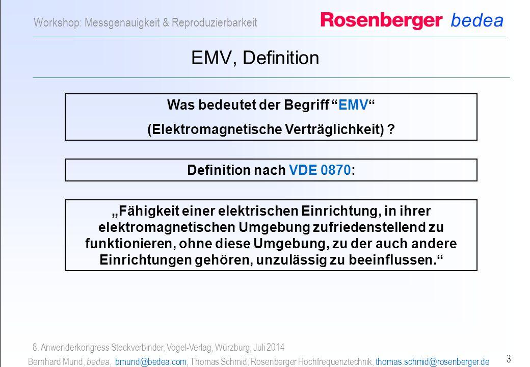 Was bedeutet der Begriff EMV (Elektromagnetische Verträglichkeit)