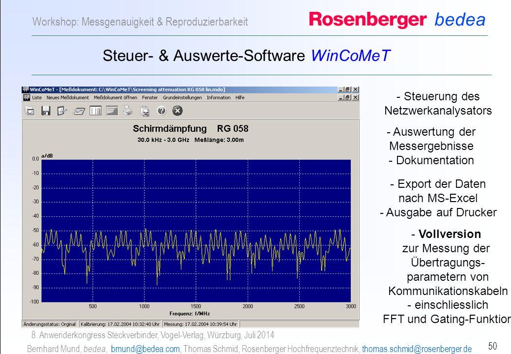 Steuer- & Auswerte-Software WinCoMeT