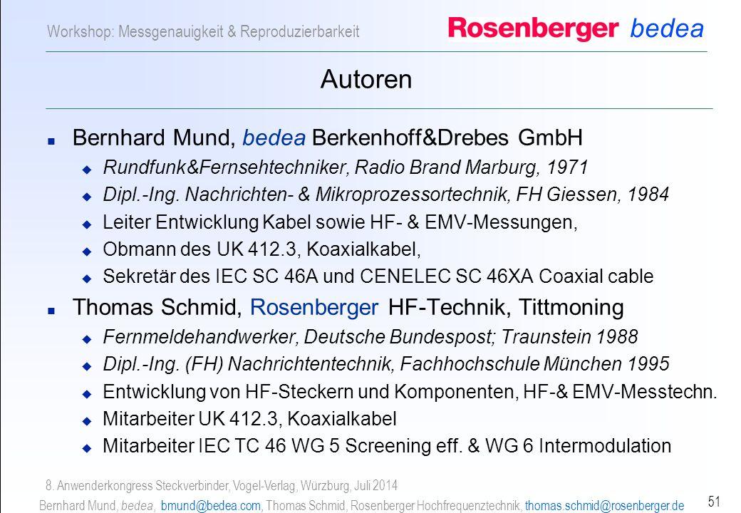 Autoren Bernhard Mund, bedea Berkenhoff&Drebes GmbH