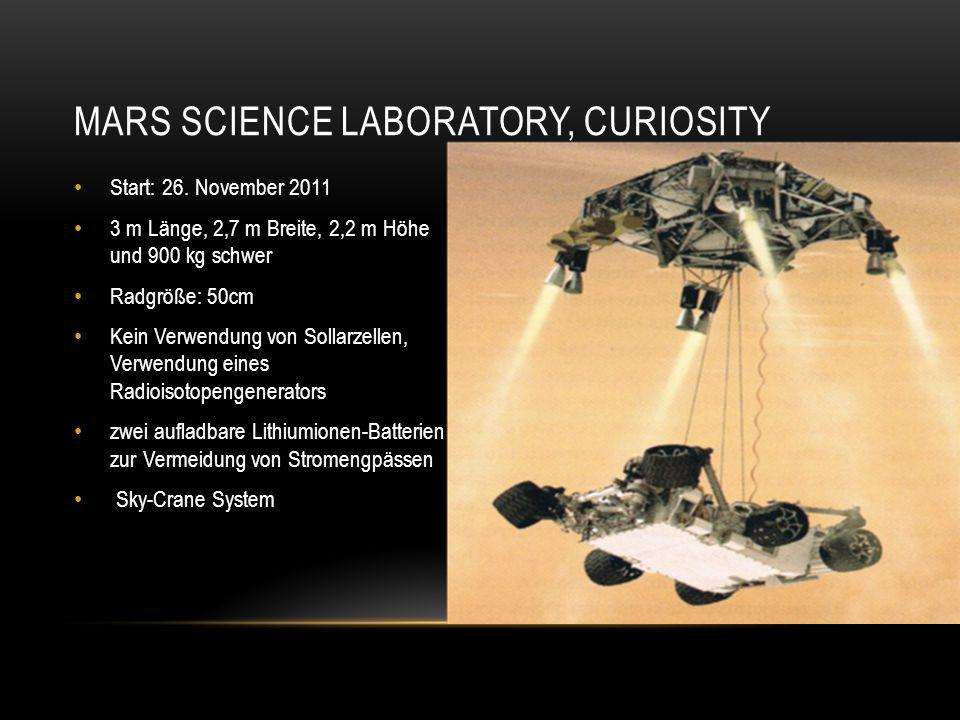 Mars science laboratory, Curiosity