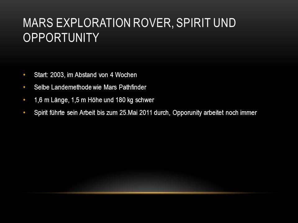 Mars exploration rover, spirit und opportunity