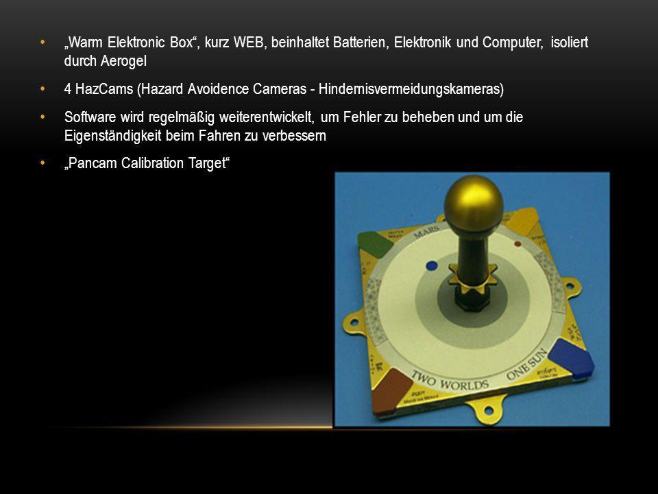 """""""Warm Elektronic Box , kurz WEB, beinhaltet Batterien, Elektronik und Computer, isoliert durch Aerogel"""